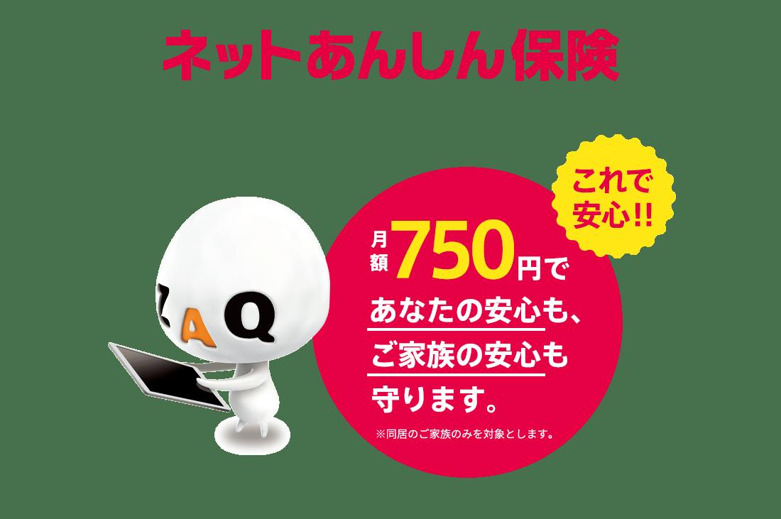 ネットあんしん保険 月額750円